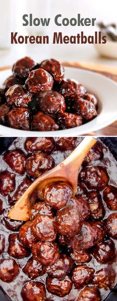 Slow Cooker Korean Meatballs