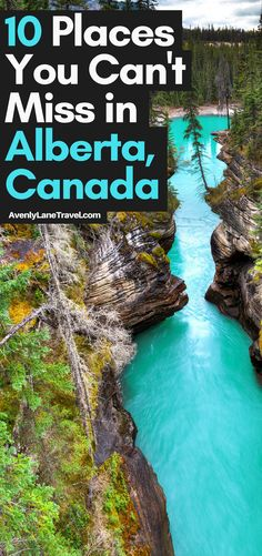 Athabasca Falls in Alberta, Canada! Top things to do and see in Alberta, Canada - Travel interests Cool Places To Visit, Places To Travel, Travel Destinations, Travel Tips, Travel Packing, Shopping Travel, Montreal, Vancouver, Toronto