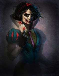 Snow White meets the Joker.