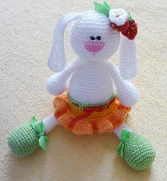 Easter Bunny Plush, crochet rabbit, crochet toy, baby rabbit, Easter bunny, white rabbit, baby gift, newborn birthday