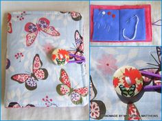 Needle & pin case - Blue Butterfly - The Supermums Craft Fair