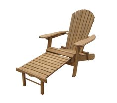 This Adirondack chair made out of Fir wood with oil-based stain folds flat for easy storage for added convenience. Pull out ottoman is attached to the chair for added comfort.