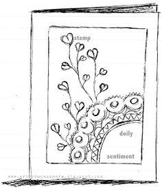 art scrap & more: a Card & a Sketch - Ombré+Stamping+Doily