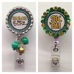 #Baylor Girl - Retractable ID Badge Holder // Cute! (from Etsy)