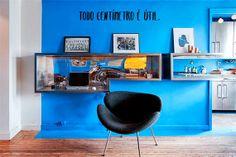 Apartamento pequeno e masculino, cheio de soluções de arquitetura - dcoracao.com - blog de decoração