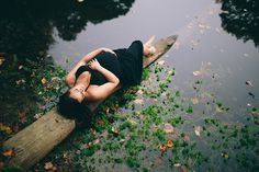 Pregnant goddess - Laying on a log in a pond :)