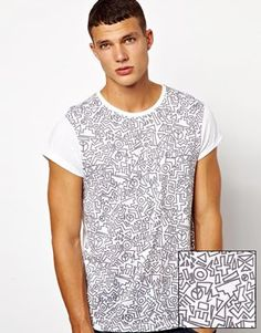ASOS T-Shirt With All Over 90s Print