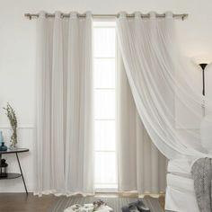 cortinas juveniles, cortinas refinadas de satín y velo, bonita propuesta para dormitorios y salones