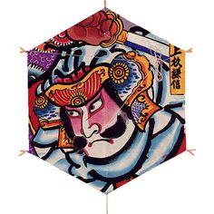 和凧特大六角凧(76×65cm)上杉謙信手すき和紙使用