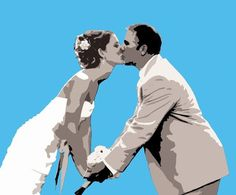 Custom Unique Wedding Canvas Pop Art 16x20 by Studiojones1 on Etsy, $139.00