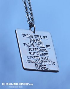 *NEW* There Will Be Pain - Necklace - Gym Jewellery – CutAndJacked Shop