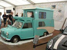 Mini pop up. Unique vintage camper for glamping. Love this one. #MINI #MiniCooper #Rvinyl ============================= http://www.rvinyl.com/MINI-Accessories.html