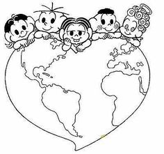 Mother's Day Coloring Pages for Kids - Preschool and Kindergarten Mothers Day Coloring Pages, Spring Coloring Pages, Colouring Pics, Coloring Pages For Kids, Drawing For Kids, Art For Kids, Harmony Day, Crochet Christmas Ornaments, Thinking Day