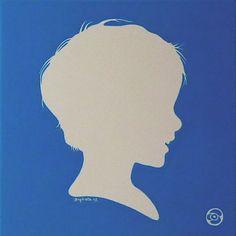 Tableau portrait profil White
