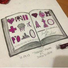 <3 love this drawing someone did #Journals