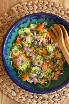Salade de pommes de terre, carottes, cornichons & câpres