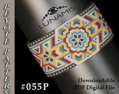 Peyote bracelet pattern, odd count, peyote pattern, stitch pattern, pdf file, pdf pattern, #055P