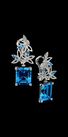 These gorgeous earrings consist of ct Topaz set in White Gold with Diamonds. Designed by Master Exclusive Jewellery. Topaz Jewelry, Gems Jewelry, I Love Jewelry, High Jewelry, Jewelry Box, Vintage Jewelry, Jewelry Design, Jewelry Stores, Jewelry Party