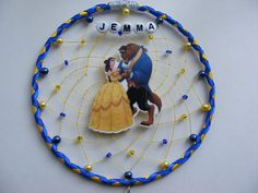 Inspired by Beauty and the Beast Personalised Dream catcher Belle childrensbedroom gift present by FirwelCrafts on Etsy
