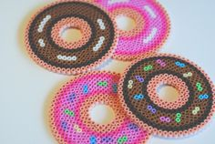 strawberry & chocolate frosted doughnut coasters by pop that cassette!