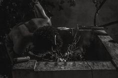 Aviva el fuego  #blackandwhite #monochrome #ecuador #fire #flame #spark #barbecue #people #man #outdoors #night #photo #photooftheday #travel #makingfood #blowing #air #blackandwhitephoto #firephoto #body
