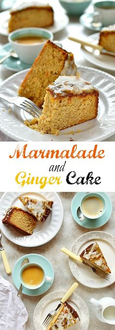 Marmalade and ginger cake - soft, moist cake made with marmalade and fresh ginger // Cakes recipes Baking Recipes, Cake Recipes, Dessert Recipes, Baking Hacks, English Cake Recipe, Bowl Cake, Moist Cakes, Pudding Recipes, Ginger Pudding Recipe