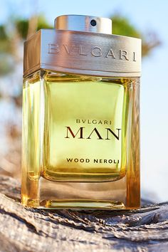 BVLGARI MAN WOOD NEROLI ⠀ A solar woody fragrance inspired by Medierranean sunshine. Opening with brilliant neroli, cocooned by cedarwood at the heart and musks composing the base.⠀ Available: @ glitz_fragrance Bvlgari Fragrance, Perfume Fragrance, Bvlgari Man, Men's Aftershave, Solid Perfume, New Fragrances, Parfum Spray, After Shave, Perfume Bottles