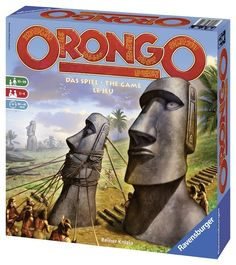 Ravensburger Orongo - At the ceremonial site Orongo, pay homage to the gods and with their help create the Moai, the unique and monumental stony heads. Bid more shells than your opponents to earn the best building spots. Game Prices, Family Board Games, Stone Statues, Easter Island, Far Away, Online Games, Card Games, Shells, Mysterious