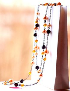 Bold and elegant, a perfect piece of jewelry for your little black dress