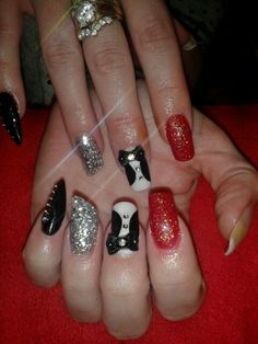 Red carpet theme nails