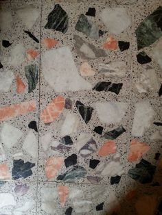 Terrazzo tiles, entrance to Oxford Brookes University.