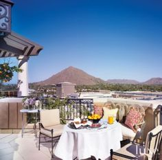 A Scottsdale #penthouse's #rooftop dining area. See more at www.luxesource.com. #luxe #luxemag #luxury #design #interiordesign #interiors #home #house #dwelling #residential #decor #homedecor #interiordecorating #interiordesignideas #architecture #terrace #patio
