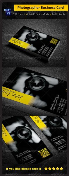 photographer business card design - #graphic #design