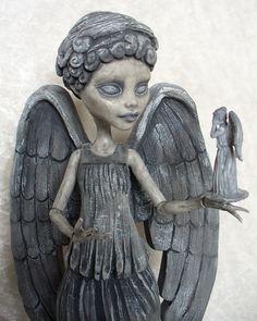 Monster High custom Weeping Angel and her dolly!! by redmermaidwerewolf, via Flickr