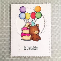 My for finally arrived! Bday Cards, Kids Birthday Cards, Special Birthday, Bear Birthday, Mft Stamps, Copics, Kids Cards, Cool Cards, Greeting Cards Handmade