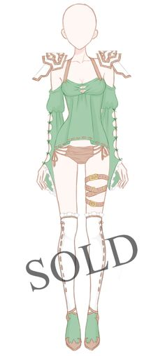 Starting bid: 20$ Minimum bid increase: 2$ Autobuy: 40$ What can I do with an Adoptable Outfit? Use it for your OC (Own Character)Use it for a game/website (Commercial Project) Use i...
