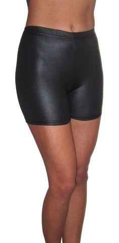 3ad0858d1d9c1 WOMENS WET LOOK RAVE SHORTS HOT PANTS DANCE BLACK UK SIZE 18  fashion   clothing