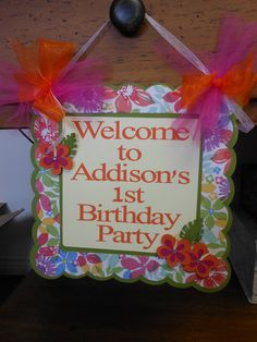 Luau Door Banner by ASweetCelebration on Etsy, $22.50