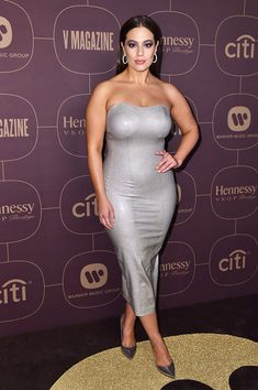 Ashley Graham attends the Warner Music Pre-Grammy Party, Arrivals, New York, USA – Jan 2018 (REX/Shutterstock) Ashley Graham Style, Hot Outfits, Fashion Outfits, Strapless Dress Formal, Formal Dresses, Glamour, Celebrity Style, Sexy Women, Curvy