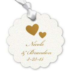Scalloped Elegance Personalized Hang Tags