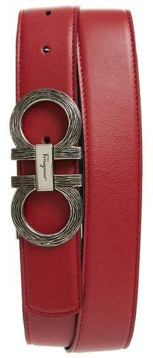 8b5c051f678 Salvatore Ferragamo Etched Double Gancio Reversible Leather Belt i big   tall  ShopStyle  MyShopStyle click link to see more informationrt