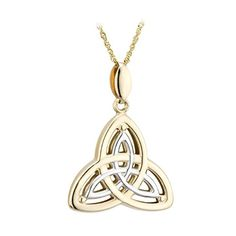 Solvar 14K Two Tone Trinity Pendant Necklace >>> You can get more details by clicking on the image.(This is an Amazon affiliate link)