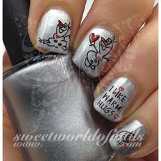Frozen Movie Olaf Snowman I like Warm Hugs Nail Art Water Decals water decals on a clear water transfer which can be applied over any color varnish on either your natural or false nail. Use: 1. Paint