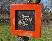 VIntage Keys Wall Collage Cottage Chic Skeleton Keys REDUCED to $25. (another with one key, same price).