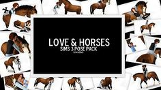 Mod The Sims - Love and Horses - A Pose Pack