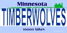MN Timberwolves Photo License Plate