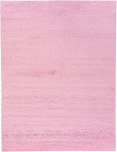 Light Pink Solid Frieze Area Rug
