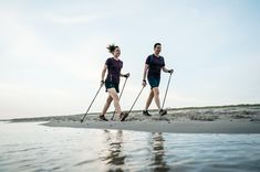 Walking To Lose Weight. Walking for exercise will not should be strenuous to make results. Nordic Walking Sticks, Walking Challenge, Benefits Of Walking, Walking Exercise, Fitness Goals, South Africa, Lose Weight, Cape Town, Sea