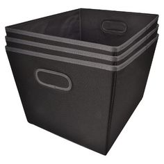 Room Essentials Black 15.5in Large Fabric bin s/... : Target Mobile
