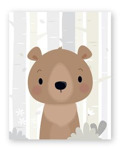 Set of 6 Woodland Nursery wall art - Forest animals Forest Animals, Woodland Animals, Nursery Prints, Nursery Wall Art, Art Blanc, Baby Room Wall Decor, Art Carte, Woodland Nursery Decor, Forest Nursery